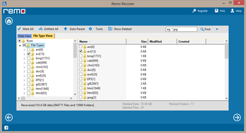 File recovery after - View Recovered Files